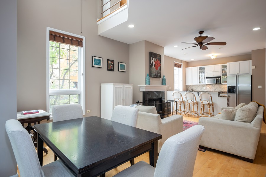 Real Estate Photography - 847 N Hermitage, Unit B, Chicago, IL, 60622 - Living Room/Dining Room