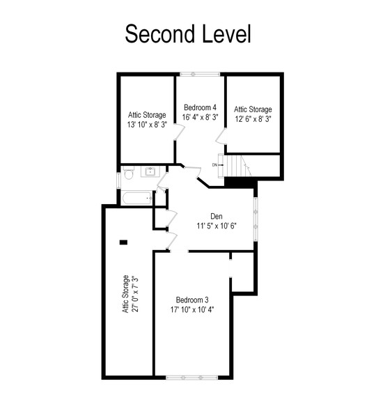 Real Estate Photography - 3811 N Kildare, Chicago, IL, 60641 - Floor Plan