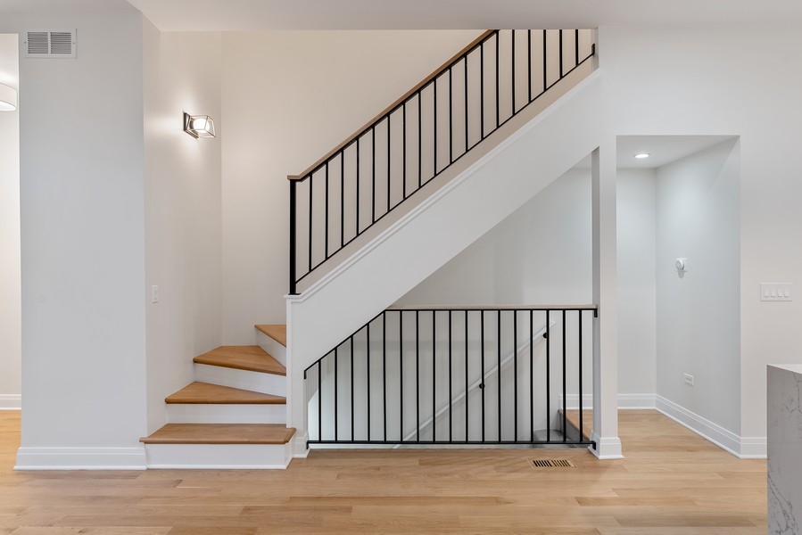 Real Estate Photography - 2335 W Altgeld, Chicago, IL, 60647 - Staircase