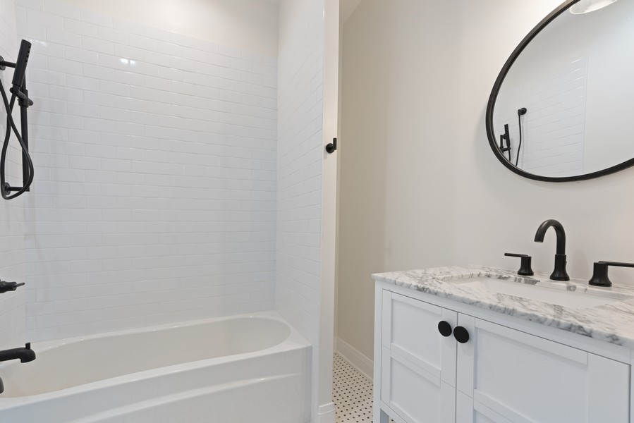 Real Estate Photography - 2335 W Altgeld, Chicago, IL, 60647 - 2nd Bathroom