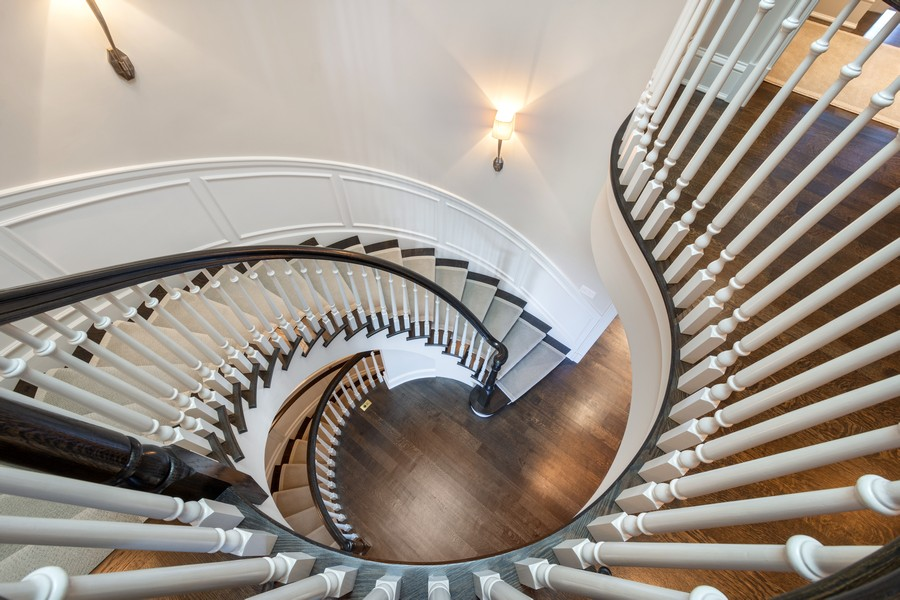 Real Estate Photography - 84 Dundee Ln, Barrington Hills, IL, 60010 - Custom Spiral Staircase