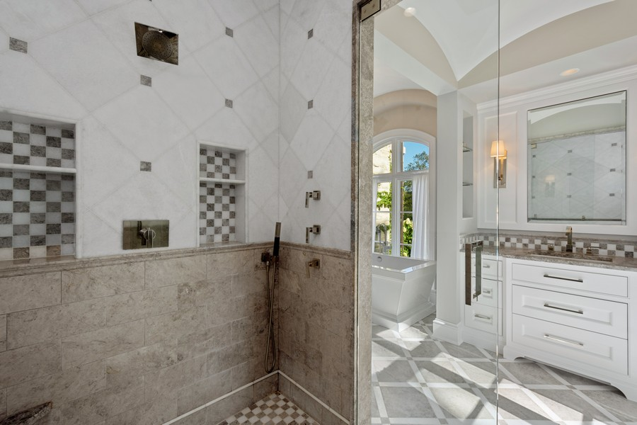 Real Estate Photography - 84 Dundee Ln, Barrington Hills, IL, 60010 - Master Bath Walk-In Shower