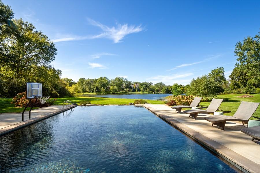 Real Estate Photography - 84 Dundee Ln, Barrington Hills, IL, 60010 - Custom In Ground Pool