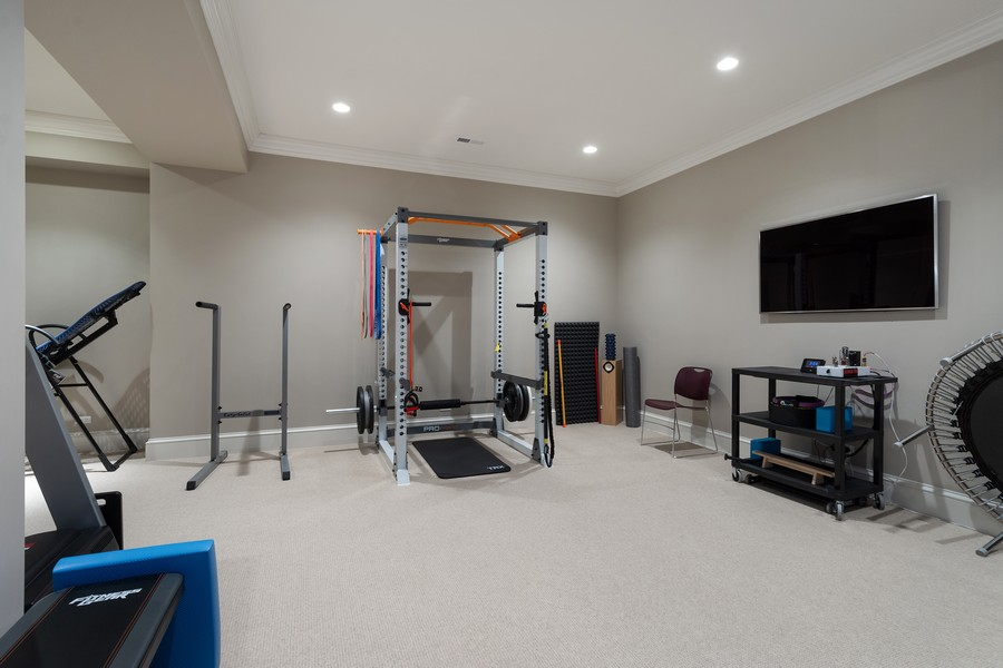 Real Estate Photography - 84 Dundee Ln, Barrington Hills, IL, 60010 - Fitness Room