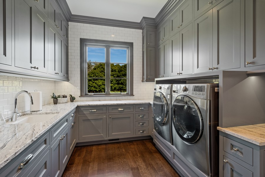Real Estate Photography - 84 Dundee Ln, Barrington Hills, IL, 60010 - First Floor Laundry