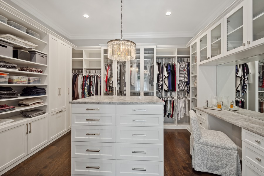 Real Estate Photography - 84 Dundee Ln, Barrington Hills, IL, 60010 - Her Master Walk-In Closet