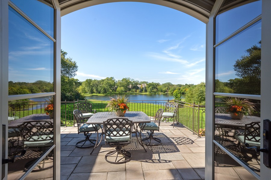 Real Estate Photography - 84 Dundee Ln, Barrington Hills, IL, 60010 - Terrace with Water Views