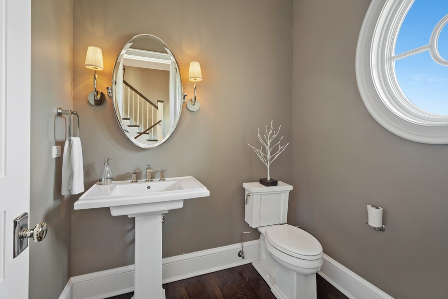 Real Estate Photography - 84 Dundee Ln, Barrington Hills, IL, 60010 - First Floor Second Powder Room