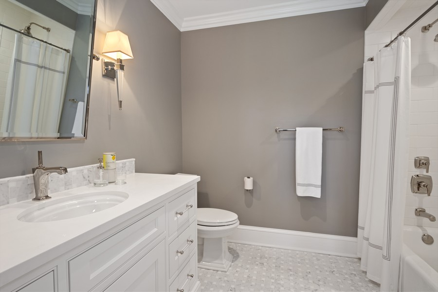 Real Estate Photography - 84 Dundee Ln, Barrington Hills, IL, 60010 - Third Bedroom En Suite Bath