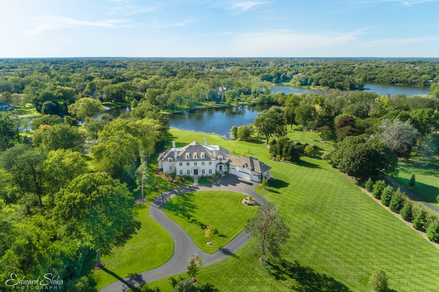 Real Estate Photography - 84 Dundee Ln, Barrington Hills, IL, 60010 - Aerial View 2