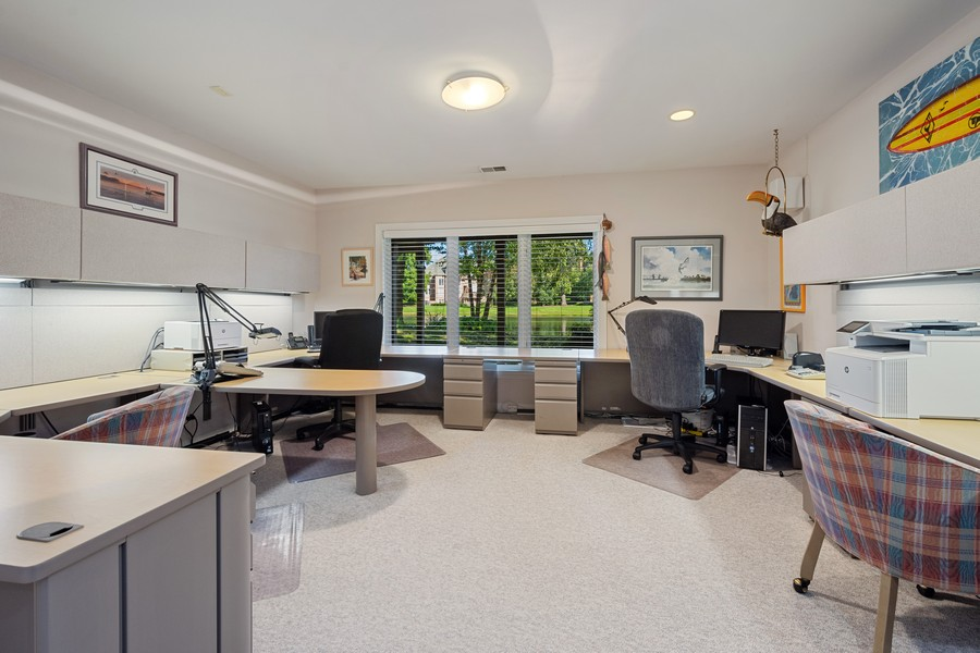 Real Estate Photography - 9 Lakeside Ln, North Barrington, IL, 60010 - Lower Level Office / 4th Bedroom