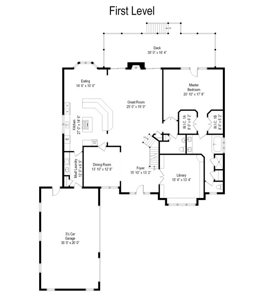 Real Estate Photography - 9 Lakeside Ln, North Barrington, IL, 60010 - Floor Plan