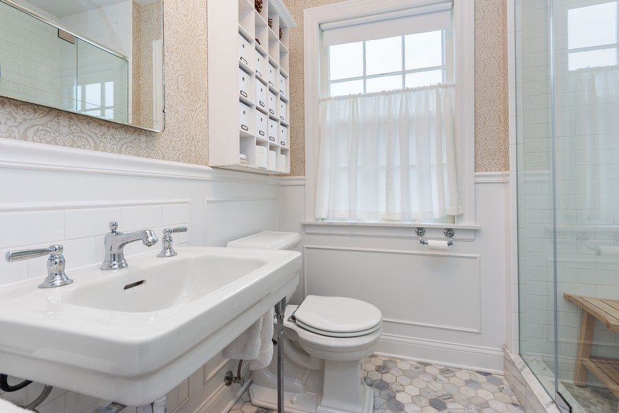 Real Estate Photography - 631 S Belmont, Arlington Heights, IL, 60005 - Master Bathroom
