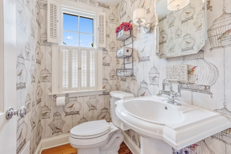 Real Estate Photography - 631 S Belmont, Arlington Heights, IL, 60005 - Powder Room