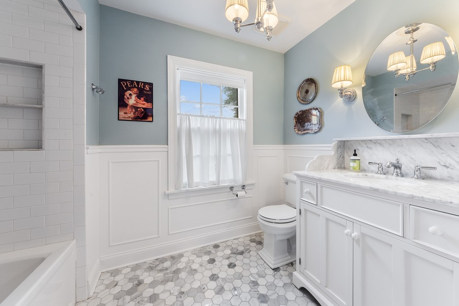 Real Estate Photography - 631 S Belmont, Arlington Heights, IL, 60005 - 2nd Bathroom