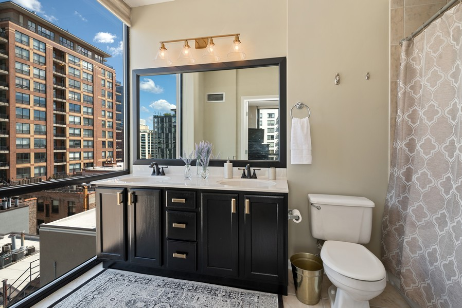 Real Estate Photography - 435 W Erie St, Unit 1102, Chicago, IL, 60654 - Master Bathroom