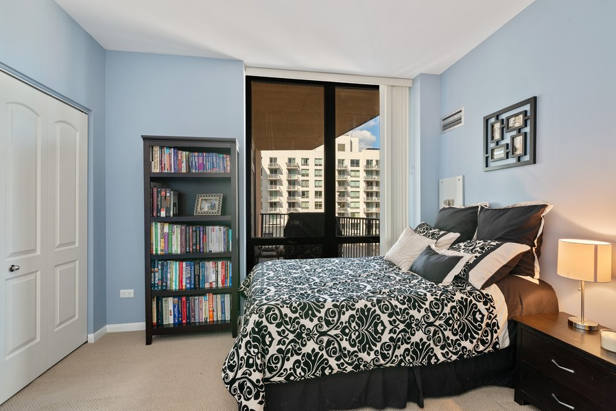 Real Estate Photography - 435 W Erie St, Unit 1102, Chicago, IL, 60654 - 2nd Bedroom