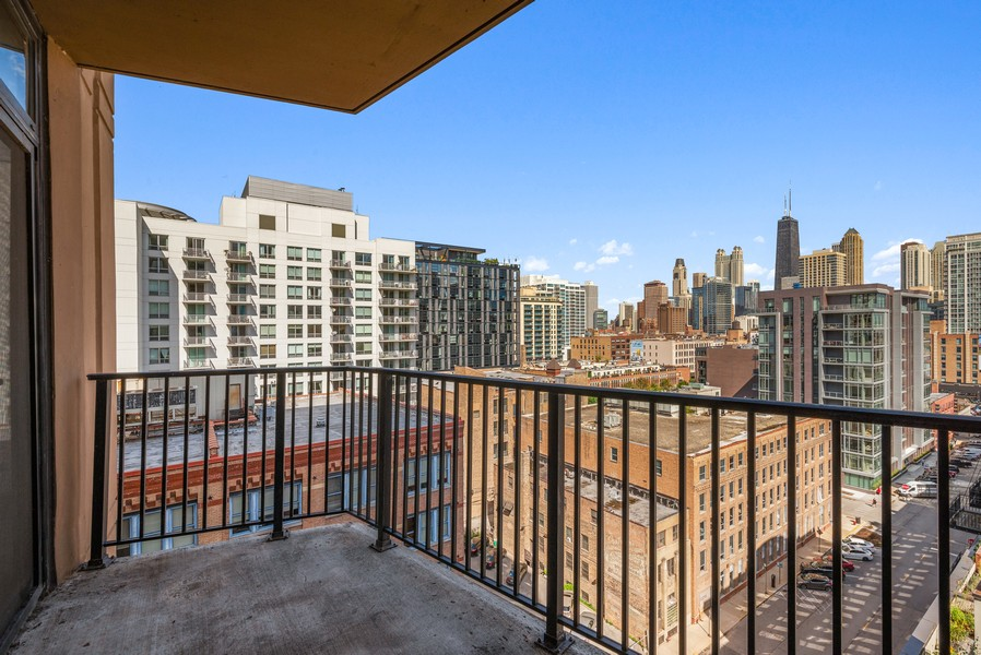 Real Estate Photography - 435 W Erie St, Unit 1102, Chicago, IL, 60654 - Balcony