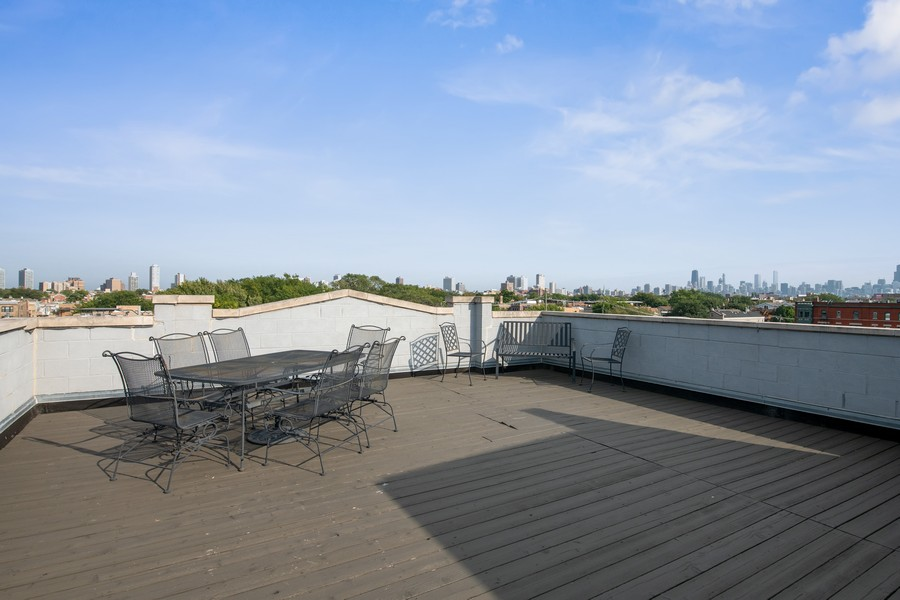 Real Estate Photography - 3432 N. Southport, PH, Chicago, IL, 60657 - Roof Deck