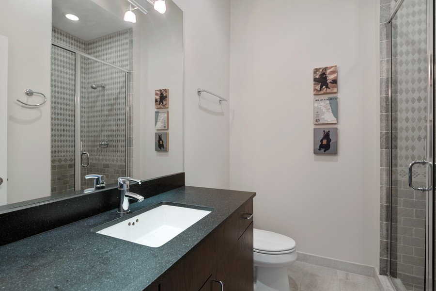 Real Estate Photography - 3432 N. Southport, PH, Chicago, IL, 60657 - Second Bathroom