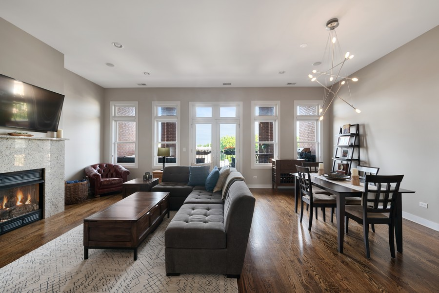 Real Estate Photography - 3432 N. Southport, PH, Chicago, IL, 60657 - Living Room/Dining Room