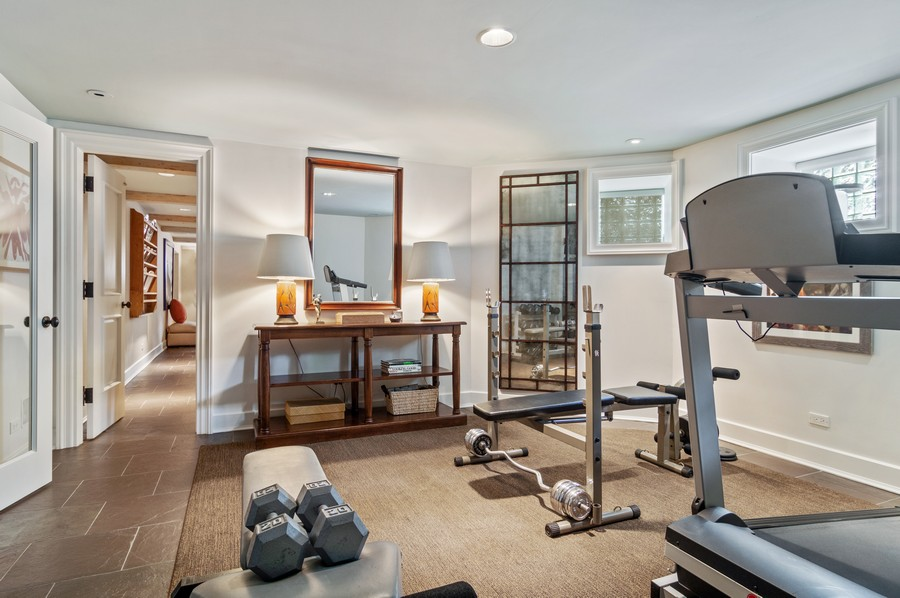 Real Estate Photography - 2156 W Concord Pl., Chicago, IL, 60647 - Exercise Room