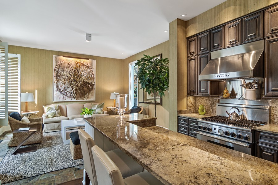 Real Estate Photography - 2156 W Concord Pl., Chicago, IL, 60647 - Family Room / Kitchen