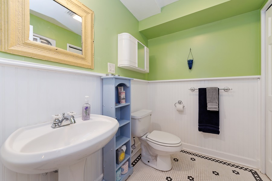 Real Estate Photography - 538 2nd St., Grayslake, IL, 60030 - Basement Bathroom