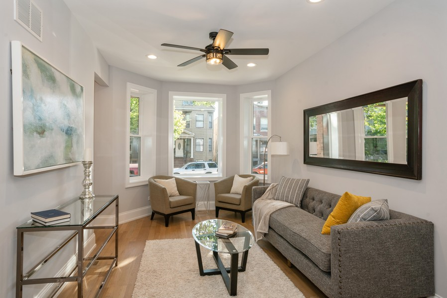 Real Estate Photography - 3622 N Albany Avenue, Chicago, IL, 60618 - Living Room