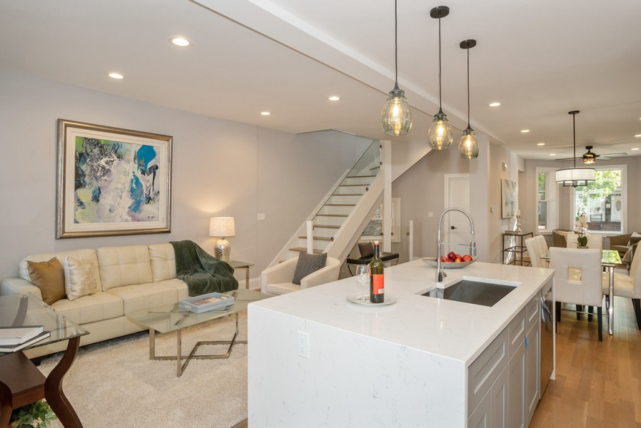 Real Estate Photography - 3622 N Albany Avenue, Chicago, IL, 60618 - Family Room