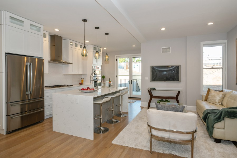 Real Estate Photography - 3622 N Albany Avenue, Chicago, IL, 60618 - Kitchen/Family Room