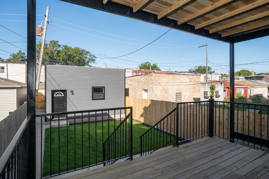 Real Estate Photography - 3622 N Albany Avenue, Chicago, IL, 60618 - Deck