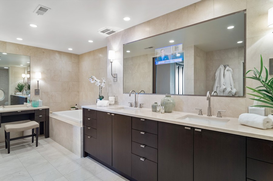 Real Estate Photography - 180 E Pearson St., Apt. 5006, Chicago, IL, 60611 - Master Bathroom
