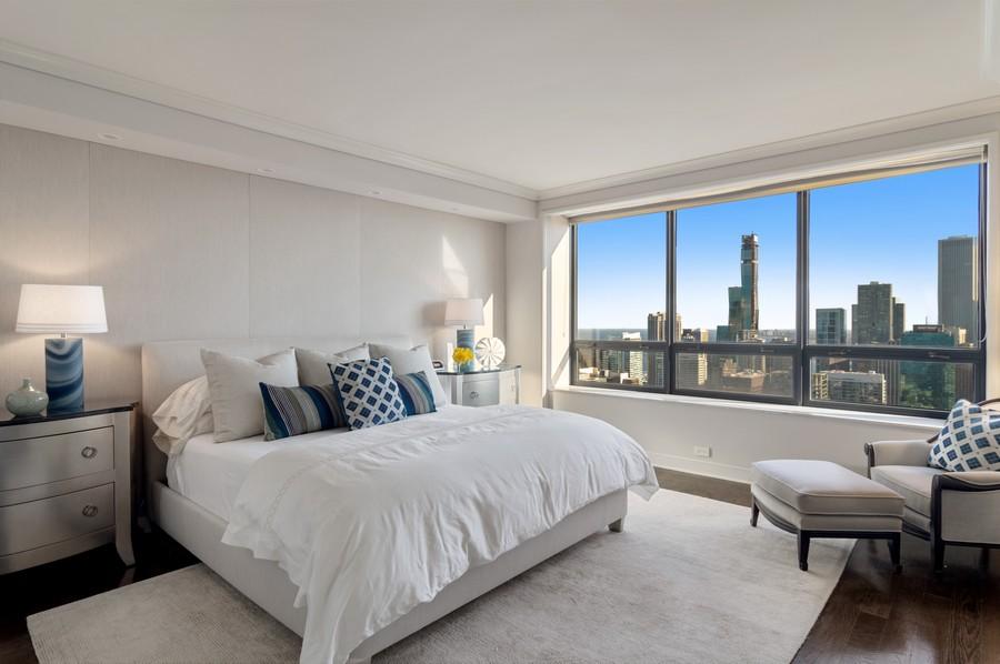 Real Estate Photography - 180 E Pearson St., Apt. 5006, Chicago, IL, 60611 - Master Bedroom