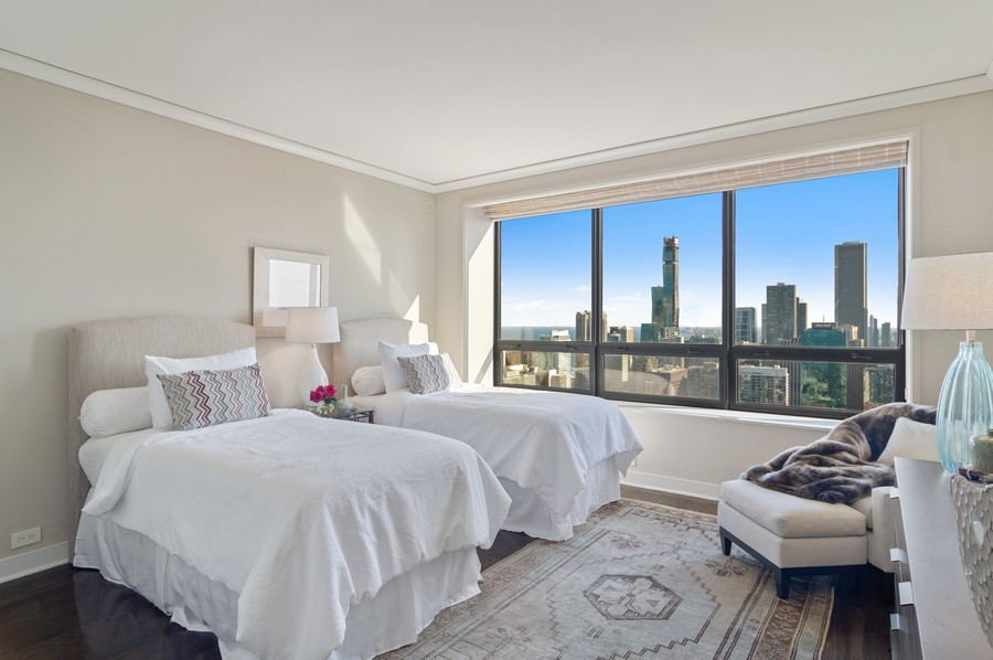 Real Estate Photography - 180 E Pearson St., Apt. 5006, Chicago, IL, 60611 - 2nd Bedroom