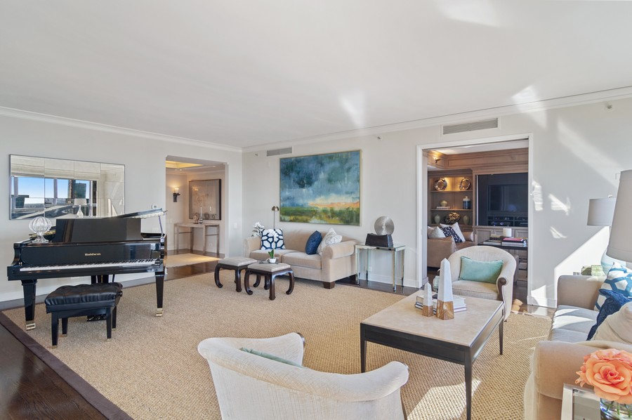 Real Estate Photography - 180 E Pearson St., Apt. 5006, Chicago, IL, 60611 - Living Room