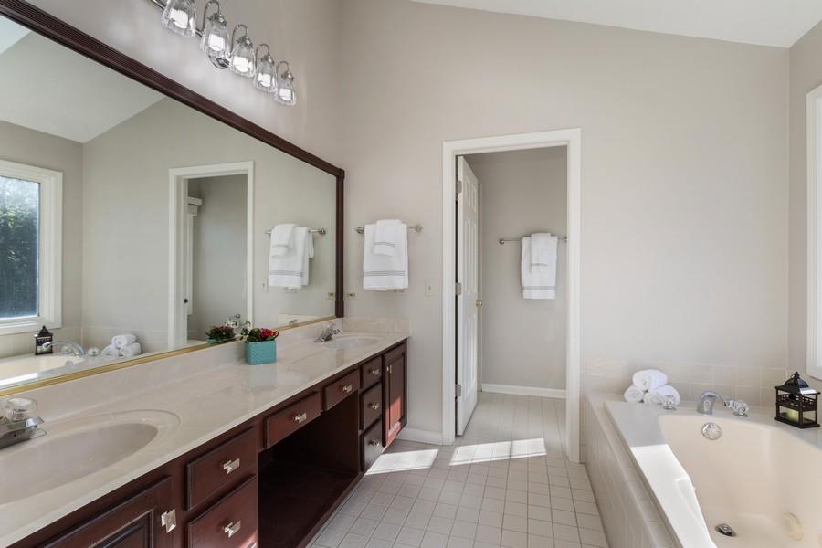Real Estate Photography - 481 Paul Circle, Barrington, IL, 60010 - Master Bathroom