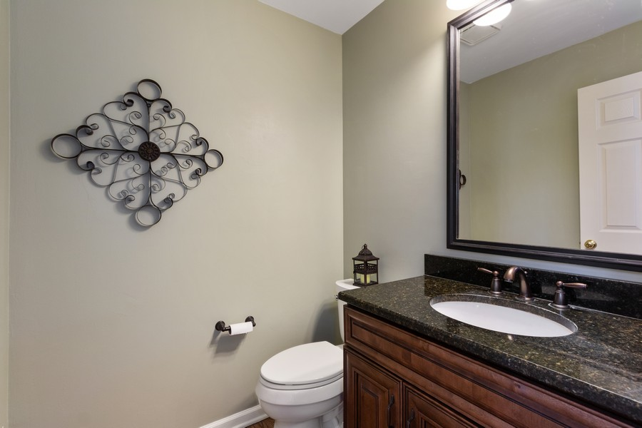 Real Estate Photography - 481 Paul Circle, Barrington, IL, 60010 - Powder Room
