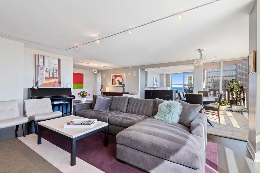 Real Estate Photography - 807 Davis Unit 1705, Evanston, IL, 60201 - Living Room