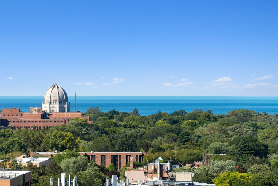 Real Estate Photography - 807 Davis Unit 1705, Evanston, IL, 60201 - View From Master Bedroom Balcony