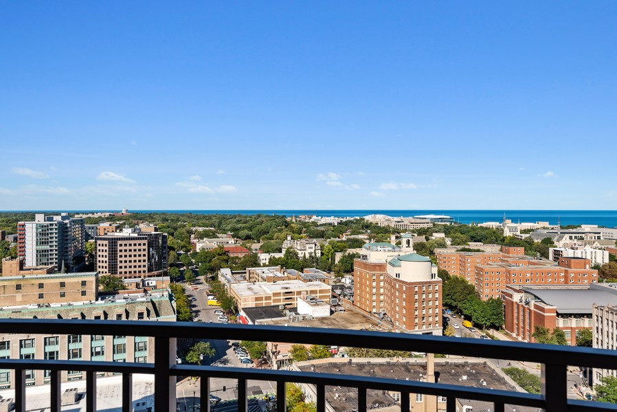 Real Estate Photography - 807 Davis Unit 1705, Evanston, IL, 60201 - Views from 3rd bedrm/Office, North/East