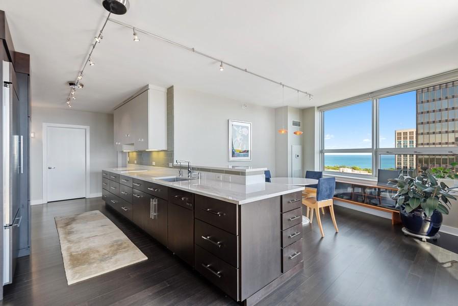 Real Estate Photography - 807 Davis Unit 1705, Evanston, IL, 60201 - Kitchen / Breakfast Room