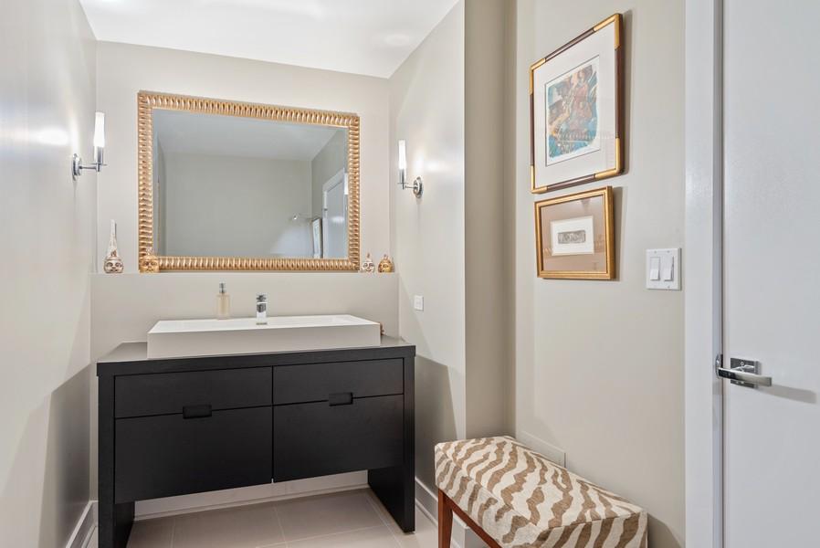 Real Estate Photography - 807 Davis Unit 1705, Evanston, IL, 60201 - Spacious Hall Bath/Powder Room