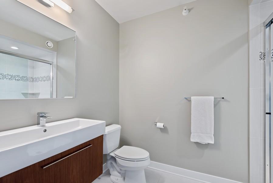 Real Estate Photography - 807 Davis Unit 1705, Evanston, IL, 60201 - Full Bathroom w/Walk in Shower