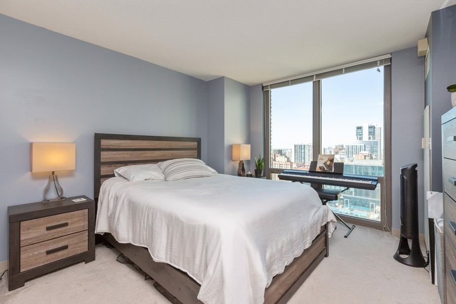 Real Estate Photography - 2 E Erie St, Apt 3112, Chicago, IL, 60611 - Master Bedroom