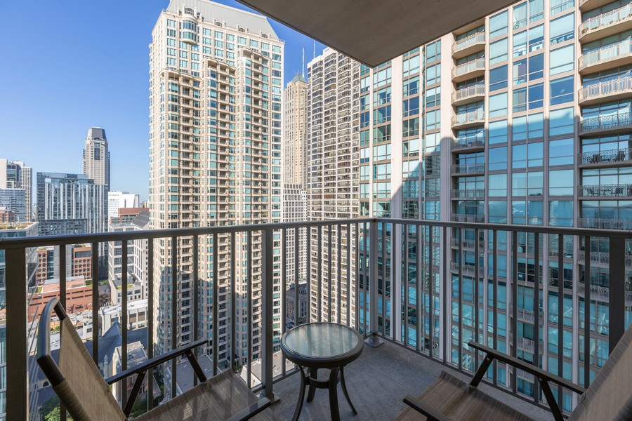 Real Estate Photography - 2 E Erie St, Apt 3112, Chicago, IL, 60611 - Balcony