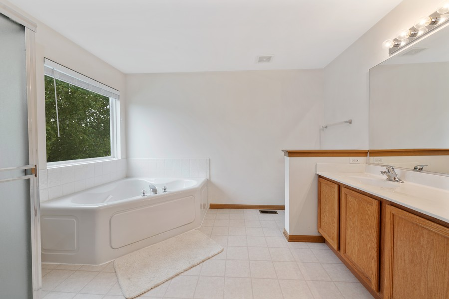 Real Estate Photography - 1435 S Wildmeadow Rd, Round Lake, IL, 60073 - Master Bathroom
