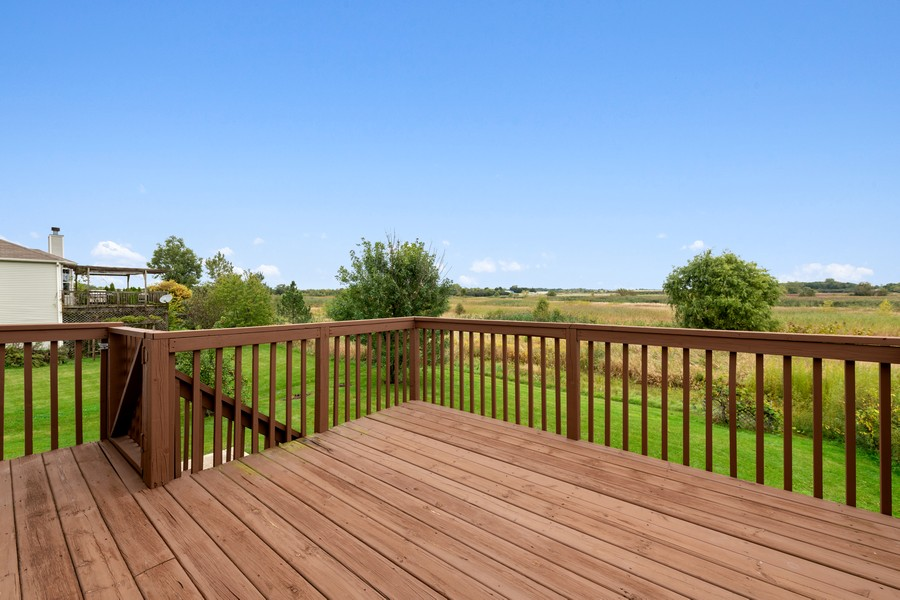 Real Estate Photography - 1435 S Wildmeadow Rd, Round Lake, IL, 60073 - Deck