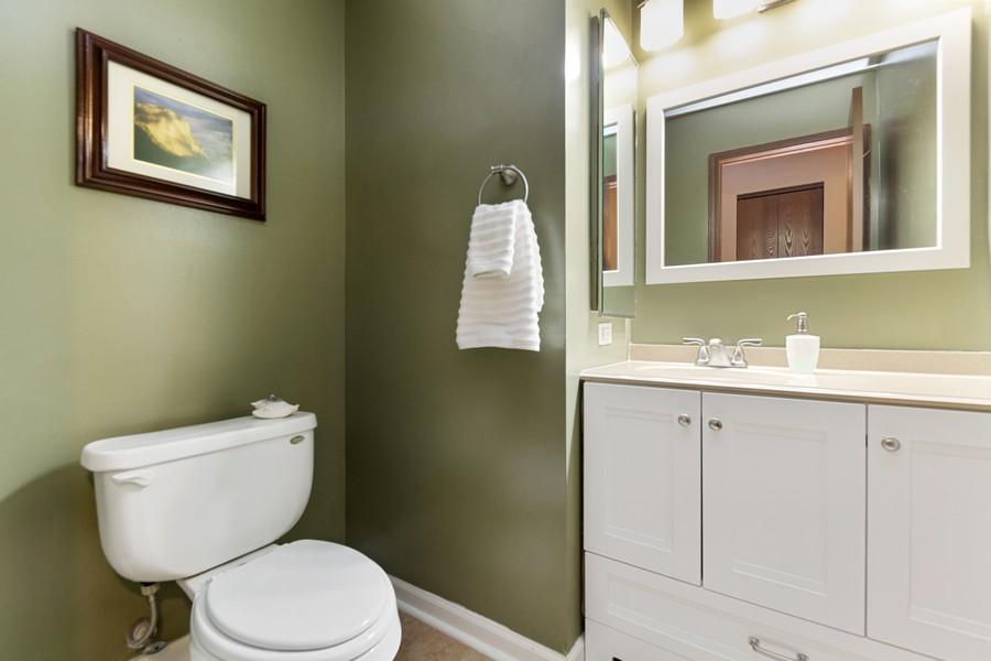 Real Estate Photography - 1675 Grosvenor Circle, UNIT B, Wheaton, IL, 60189 - Powder Room