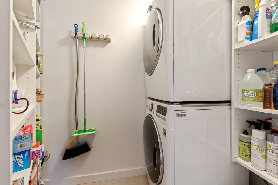 Real Estate Photography - 505 N Lake Shore Drive, #907, Chicago, IL, 60611 - Laundry Room